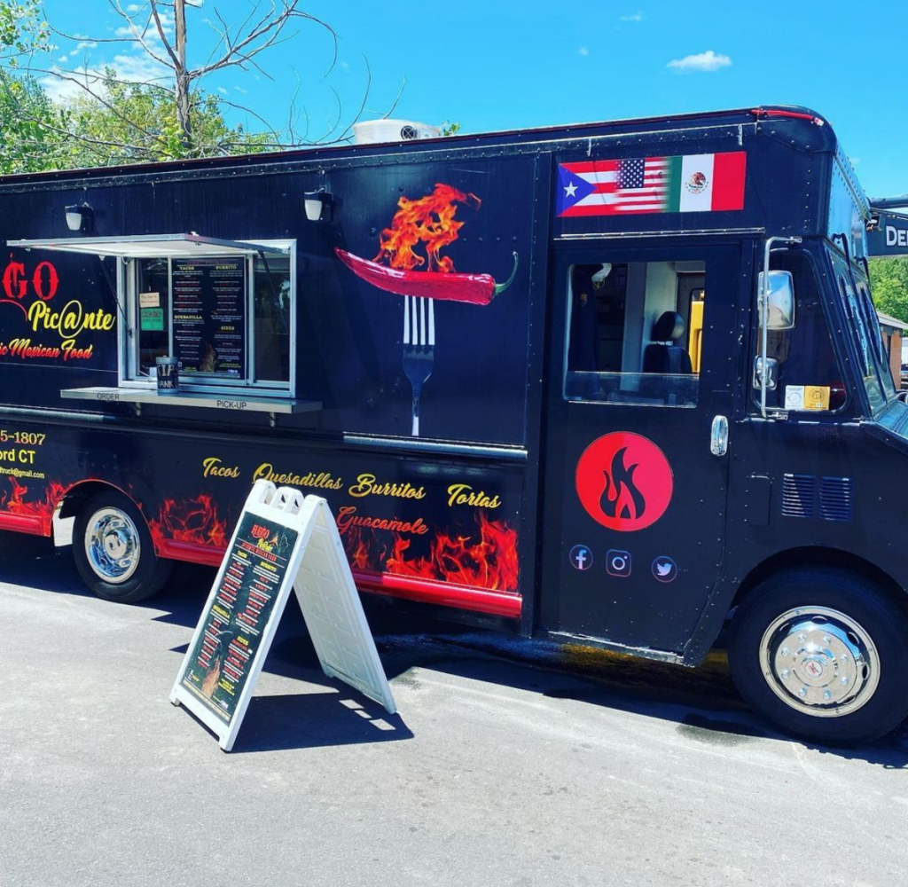 Fuego Picante food truck on a sunny day
